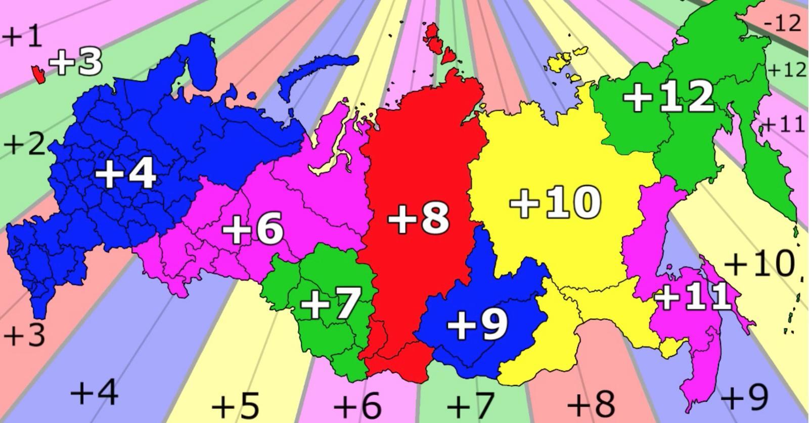 időzóna térkép Oroszország időzóna térkép   időzónák Oroszország térkép (Kelet