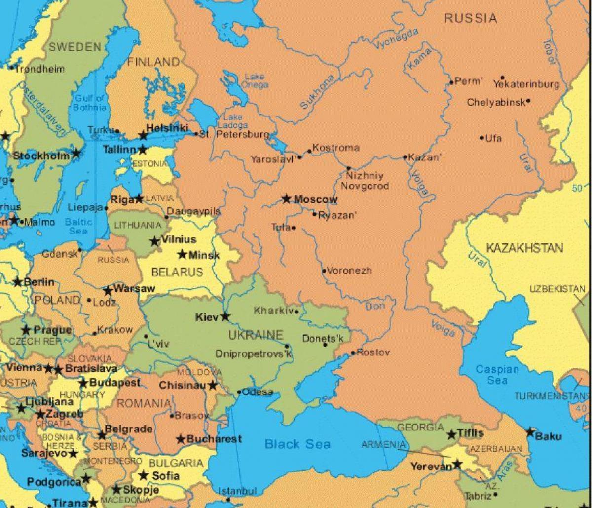 Terkep Oroszorszag Kelet Europa Kelet Europa Terkep